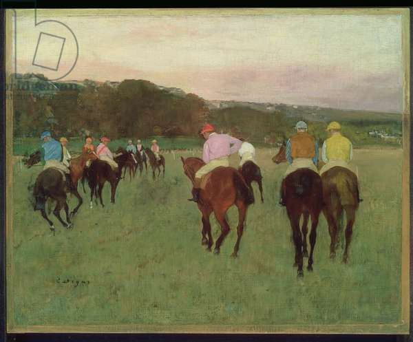 Race Horses at Longchamp, 1871, possibly reworked in 1874 (oil on canvas)