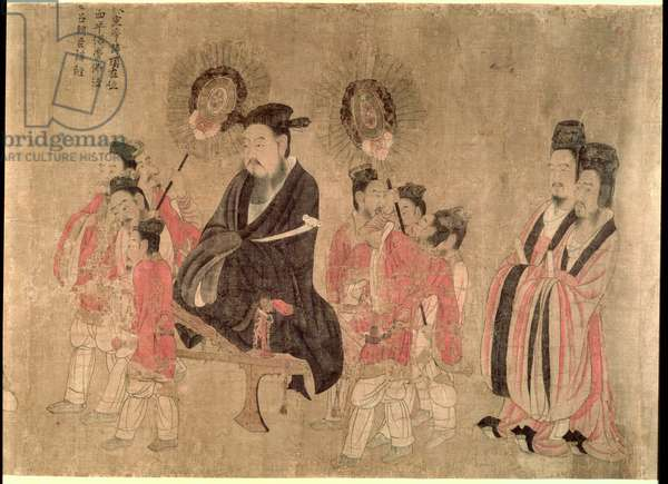 The Thirteen Emperors, Tang dynasty, China, second half of the 7th century (with later replacement) (handscroll: ink & colour on silk)