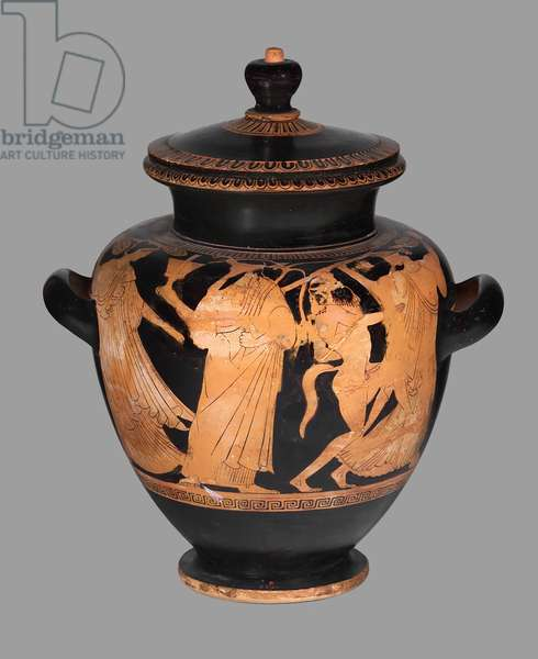 Attic red figure Stamnos, Early Classical Period, c.470-460 BC (ceramic)