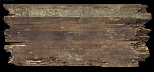 Exterior of the back side panel of the outer coffin of Djehutynakht (cedar)