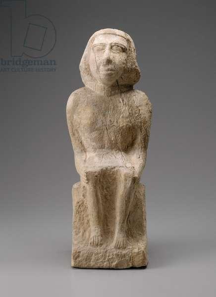 Statue of a seated man, Old Kingdom, Dynasty 5 or 6, 246-5–2150 B.C. (limestone)