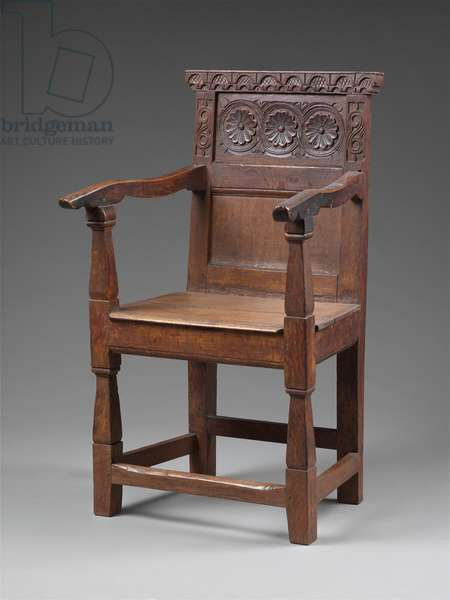 Joined great chair, c.1640-–85 (oak)
