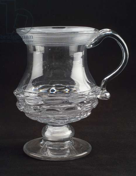 Bishop mug, c.1821-–25 (free-blown flint glass)