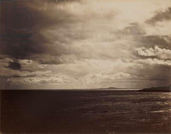 Cloudy Sky - The Mediterranean with Mount Agde, 1856-59 (albumen print)