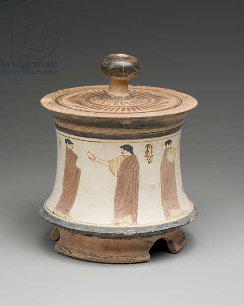Container (pyxis) with lid, c.440 BC (ceramic)