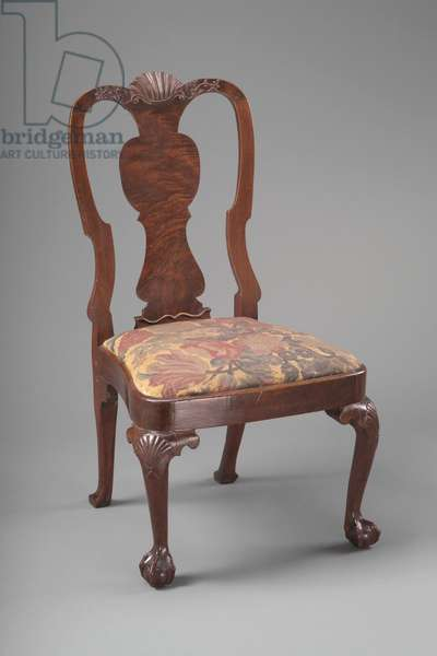 Side chair, one of a pair, c.1750-–60 (walnut, white pine, maple & needlework)
