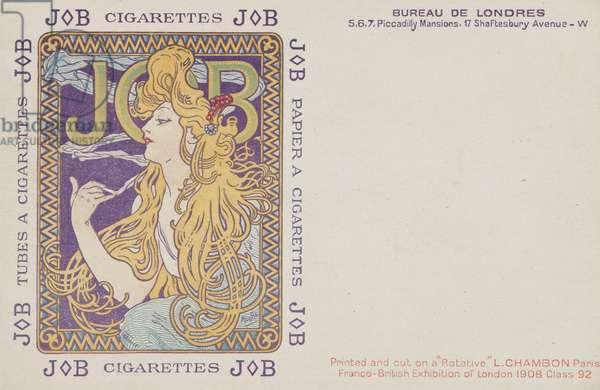 JOB CIGARETTES (colour litho)