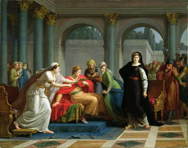 'Seigneur! Voyez ces yeux' (Cleopatra Discovered by Rodogune to Have Poisoned the Nuptial Cup) 1791 (oil on canvas)