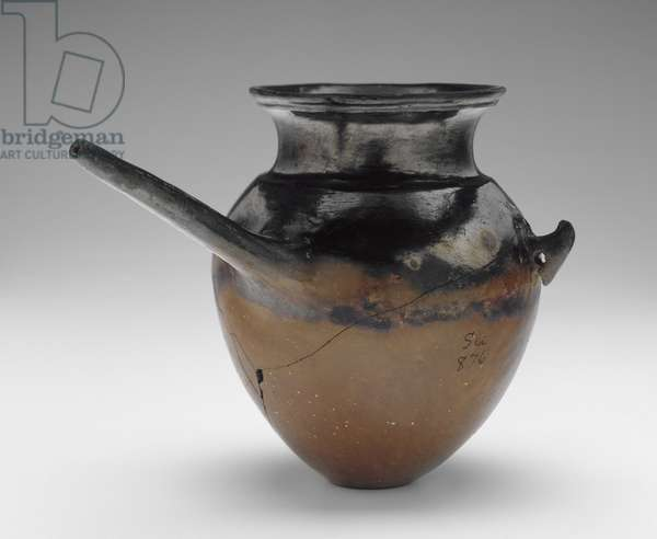 Spouted black-topped red-polished vessel, Nubia, Classic Kerma (1700-1500 BC) (pottery)