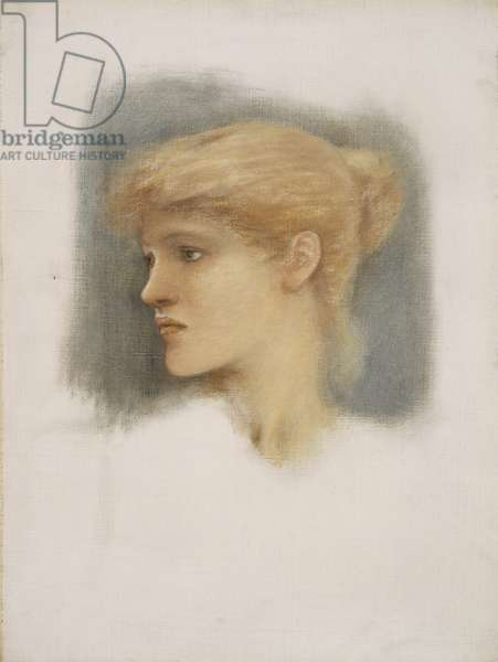 Study of a Young Woman's Head, c.1895 (oil on canvas)