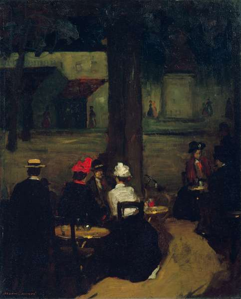 Sidewalk Café, c.1899 (oil on canvas)
