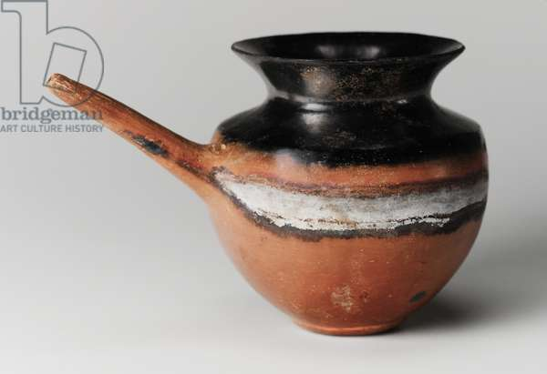 Spouted black-topped red polished jar, Classic Kerma, c.1700-1550 BC (ceramic)