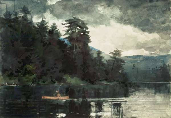 Adirondack Lake, 1889 (w/c over graphite pencil on paper)