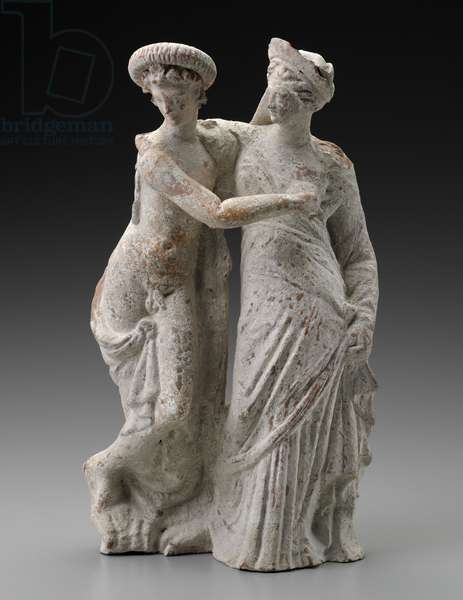 Statuette of Eros and Psyche, Hellenistic Period (terracotta)