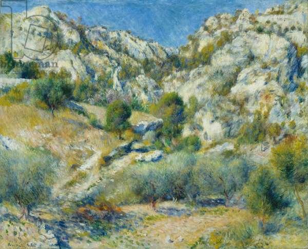 Rocky Crags at l'Estaque, 1882 (oil on canvas)
