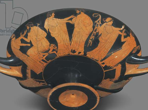 Drinking cup (kylix) Late Archaic Period, c.490-480 BC (ceramic)