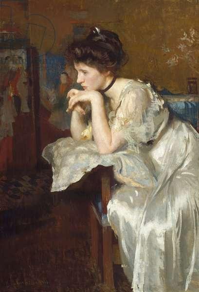 Reverie (Katherine Finn) 1913 (oil on canvas)