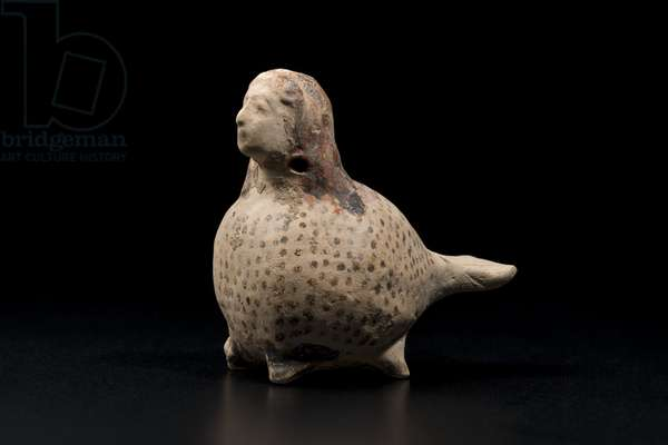 Vase in the form of a siren, c.575 BC (ceramic)