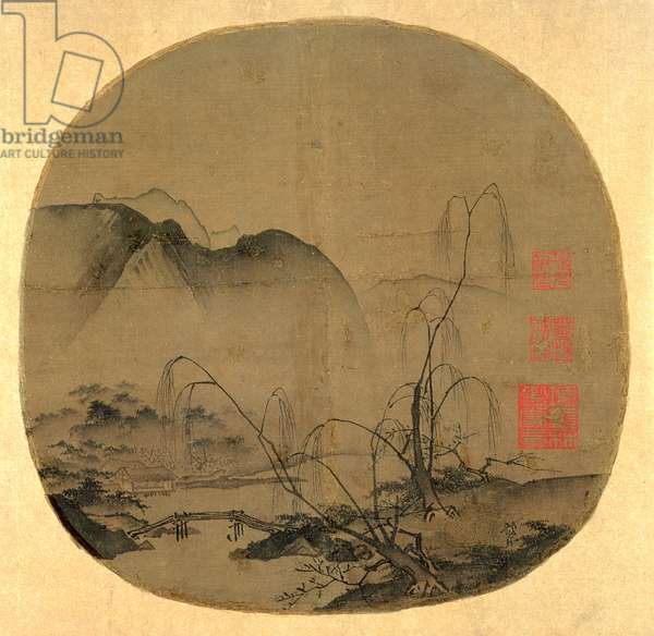 Bare Willows and Distant Mountains, Southern Song dynasty, China, end of 12th century (ink & light colour on silk)