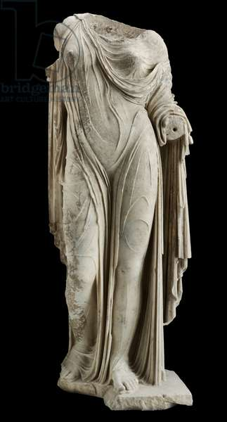 Statue of Aphrodite or a Roman Lady, Imperial Period (marble)