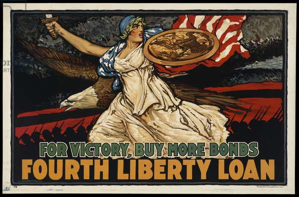 For Victory, Buy More Bonds-Fourth Liberty Loan, 1918 (colour litho)