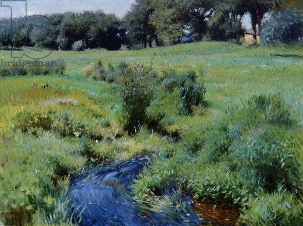 The Pool, Medfield, 1889 (oil on canvas)