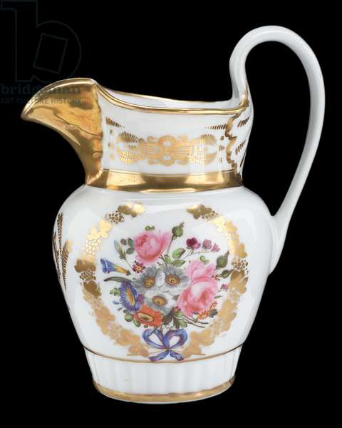 Pitcher, William Ellis Tucker Factory Porcelain Company, c.1830 (porcelain)