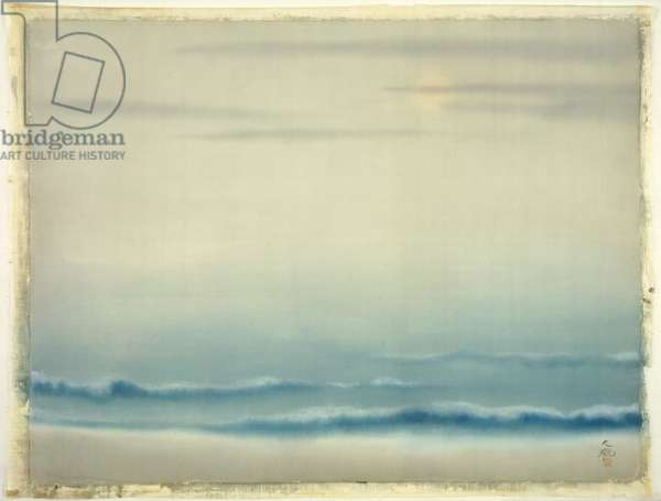 Waves in Moonlight, c.1904-05 (ink & colour on silk)