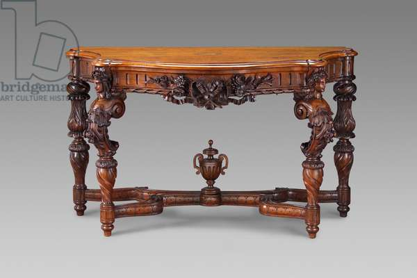 Table, 1850-–57 (rosewood & rosewood veneer)