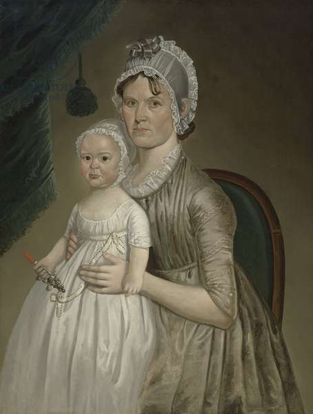 Mrs Cephas Smith, Jr. (Mary Gove) and Child, c.1803 (oil on canvas)