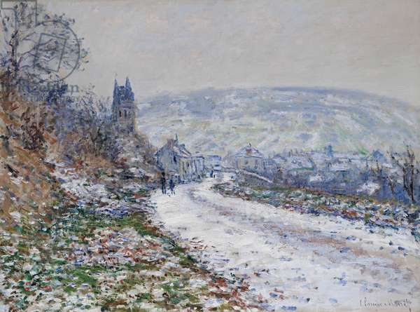 Entrance to the Village of Vétheuil in Winter, 1879 (oil on canvas)