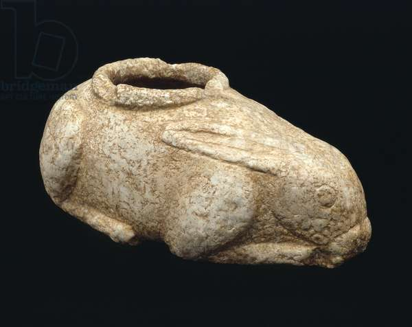 Vessel in the form of a hare, Levantine, Neolithic Period (c.6400-5900 BC) (gypsum)