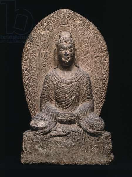 Seated Buddha (limestone)