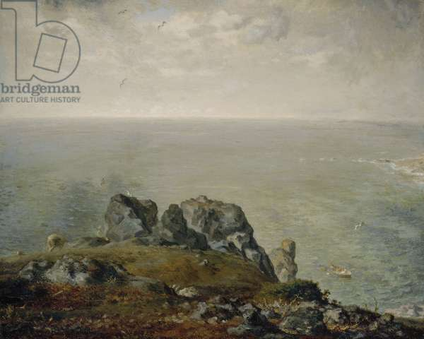 Cliffs at Gruchy, 1870-71 (oil on canvas)