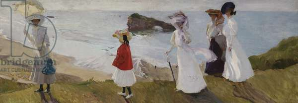 Lighthouse Walk at Biarritz, 1906 (oil on canvas)