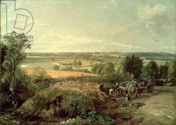 Stour Valley and Dedham Church, c.1815 (oil on canvas)