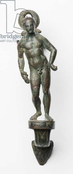 Handle of a situla (bronze)
