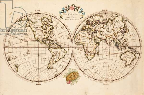 Map of the World, 1811 (pen & ink and w/c on paper)