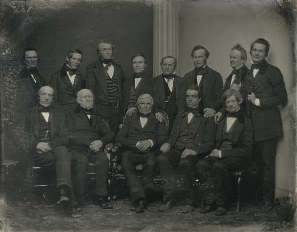 Group Portrait of Thirteen Men, 1850-60 (daguerreotype)