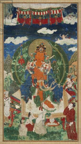 The First Kulika King of Shambala, Manjusrikirti (distemper on cotton)