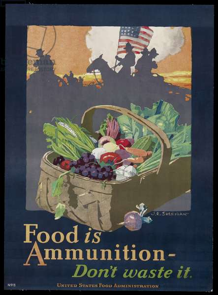 Food is Ammunition-Don't Waste It, c.1917-18 (colour litho)