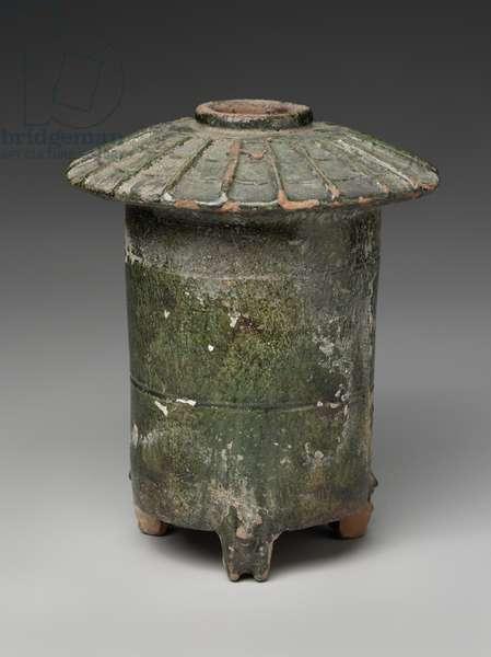 Granary with three bear-shaped legs, 206 BC - 220 AD (earthenware)