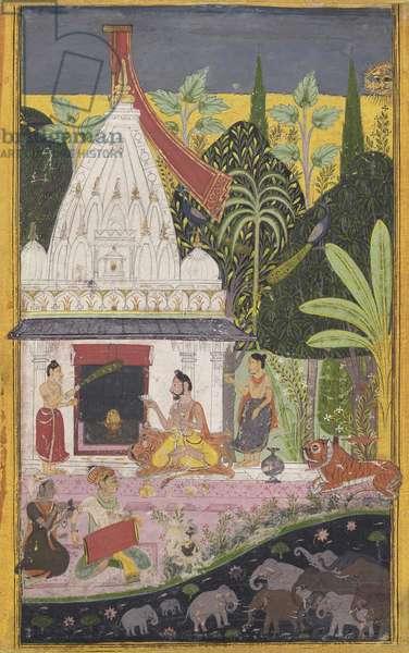 Vangali Ragini, from Mewar, Rajasthan, c.1700 (opaque w/c on paper)