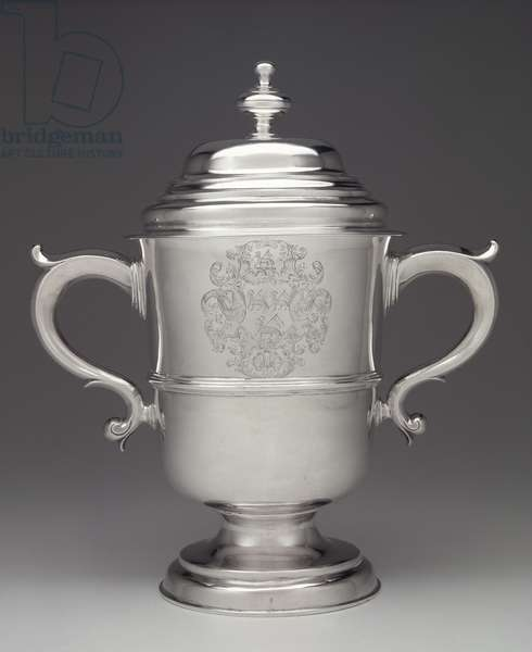 Two-handled covered cup (silver)