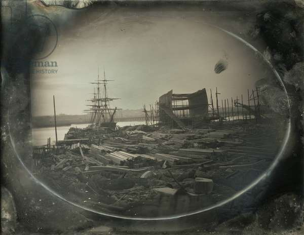 McKay's Shipyard, East Boston, c.1855 (daguerreotype)