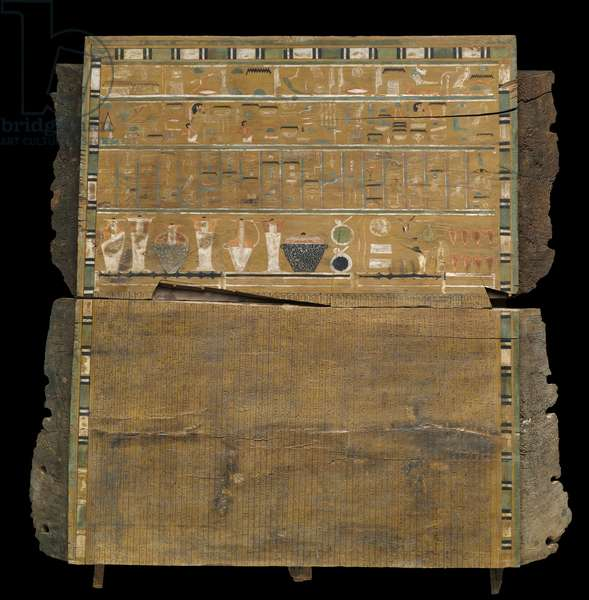 Interior of the head end panel from the outer coffin of Djehutynakht (cedar)