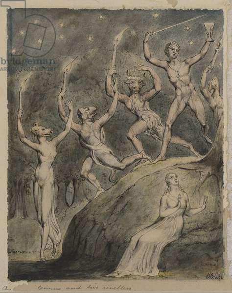 Comus with his Revellers (Illustration to Milton's 'Comus') c.1815 (pen & w/c on paper)