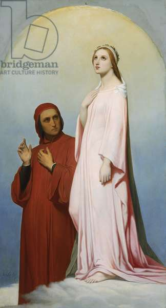 Dante and Beatrice, 1851 (oil on canvas)