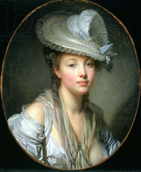 The White Hat, c.1780 (oil on canvas)