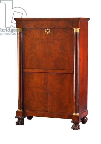 Fall-front desk (secrétaire à abbattant), 1813-–25 (mahogany & mahogany veneer)